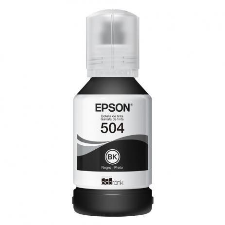 Refil Tinta Epson T504 Preto 504 Original L6161 L4150 L4160 L6191 L6171 T504