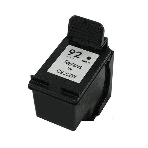 Cartucho Hp 92 Preto Compativel 25ml   Hp C9362WB C3180 1510