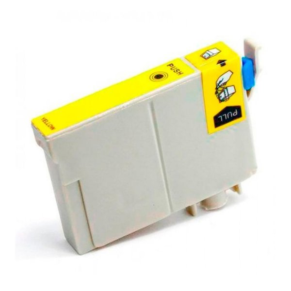 Cartucho Epson TO48420 Amarelo Compativel 17ml T0484 R200 R220