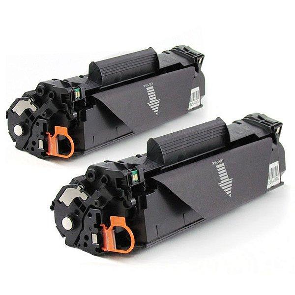 Kit com 2 Toner Hp 35a Compativel Hp CB435A Laserjet P1005