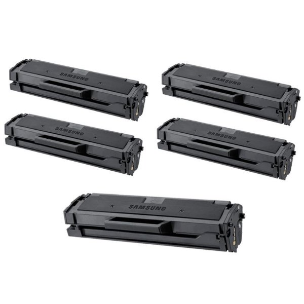 Kit com 5 Toner Samsung MLTD101S Compativel MLT-D101S ML2165 SCX3405