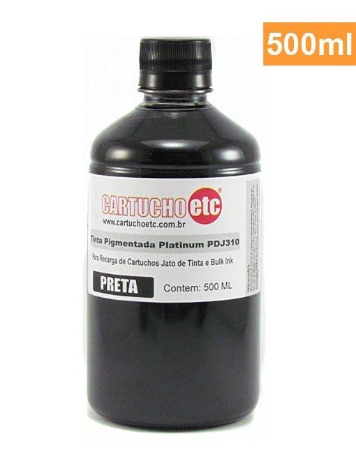 Tinta Pigmentada Formulabs PDJ310 para HP Preta 500ml