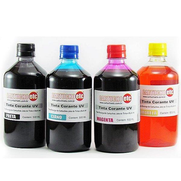 Kit 2 Litros de Tinta Formulabs Hp Premium UV 500ml de Cada Cor