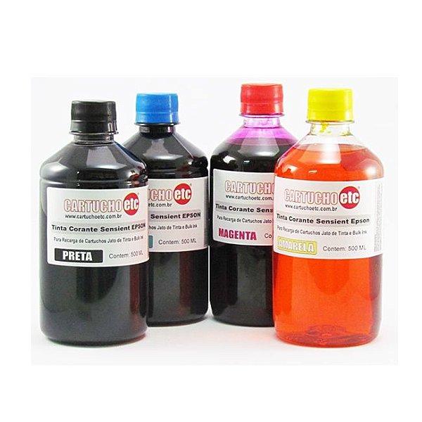 Kit 2 Litros de Tinta Formulabs Epson Corante UV 500ml de Cada Cor | 4 Cores