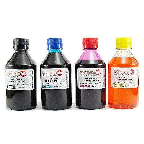 Kit 1 Litro de Tinta Formulabs Epson Corante UV 250ml de Cada Cor | 4 Cores