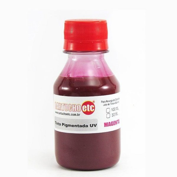 Tinta Inktec Pigmentada Epson E0007-01LM Magenta 100ml Bulk Ink Transfer