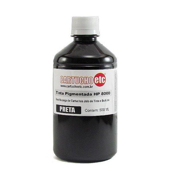 Tinta Inktec Pigmentada HP Serie 8000 H8940-01LB Preta 500ml