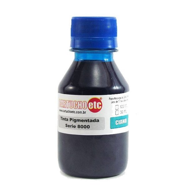 Tinta Inktec Pigmentada HP Serie 8000 H8940-01LC Ciano 100ml