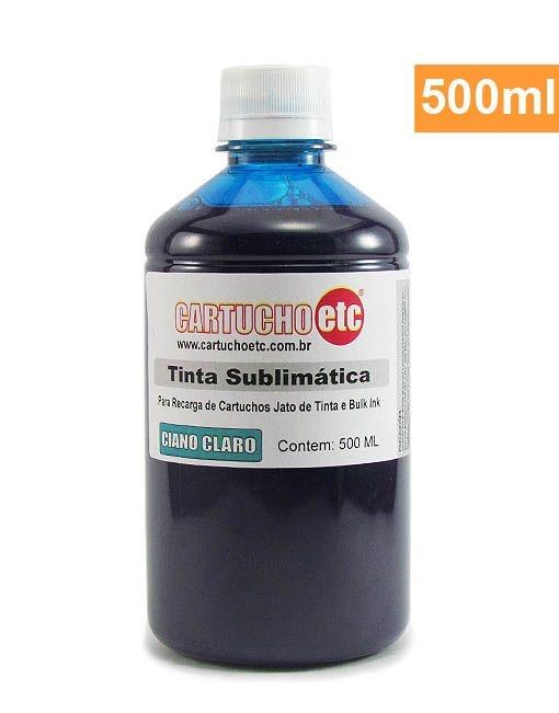 Tinta Sublimatica Inktec Azul Ciano Claro Epson Sublimação 500ml