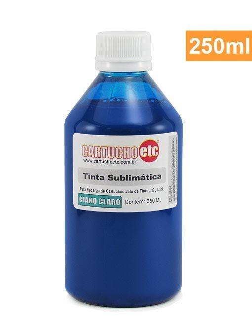 Tinta Sublimatica Inktec Cyan Light Epson Sublimação 250ml