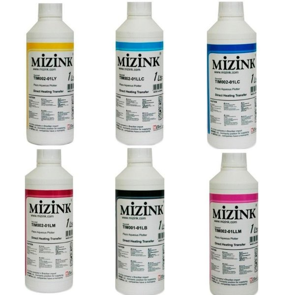 Kit 6 Litros de Tinta Sublimatica Inktec | Mizink Epson 1 Litro de Cada Cor | 6 Cores