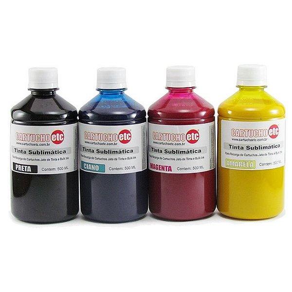 Kit 2 Litros de Tinta Sublimatica Inktec | Mizink Epson 500ml de Cada Cor | 4 Cores