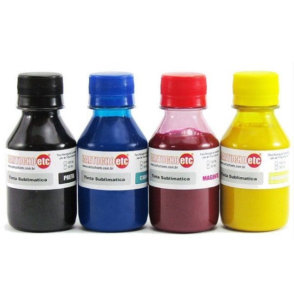 Kit 400ml Tinta Sublimatica Inktec Mizink Epson 100ml Cada Cor 4 Cores
