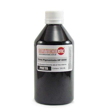 Tinta para Hp 8100 8500 8600 Inktec Preta Pigmentada H8940-01LB 1 Litro