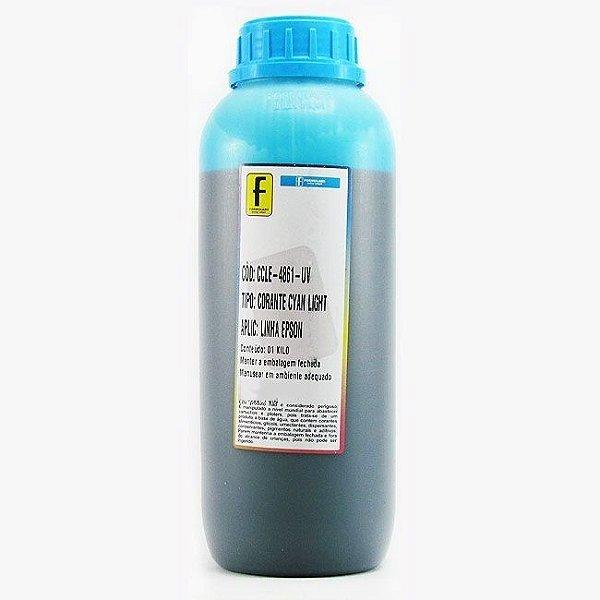 Tinta para Epson L800 Ciano Claro Corante UV Importada 1 Litro
