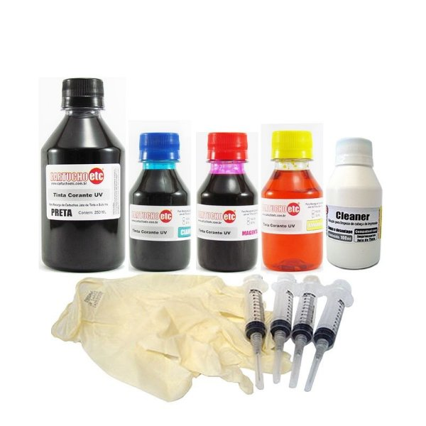 Super Kit de Recarga de Cartuchos Epson e Bulk Ink com 550ml de Tinta