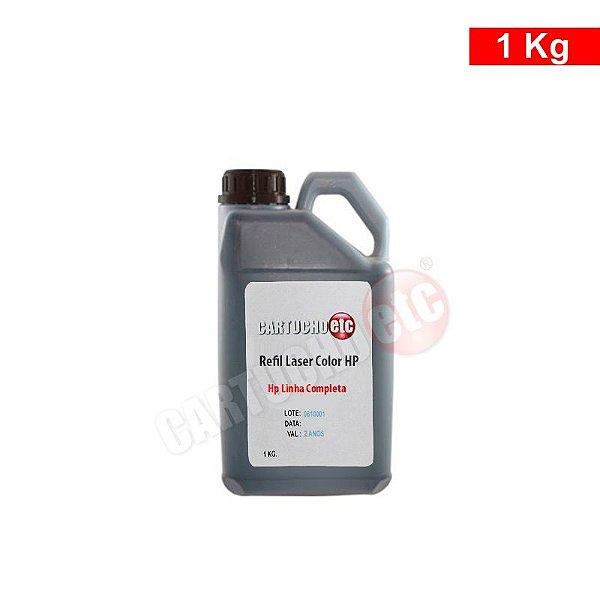 Refil de Toner Laser Colorida Hp Preto CB540 CE320 CP1215 1 KG