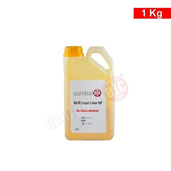 Refil de Toner Laser Colorida Hp Amarelo CB542 CE322 CP1215 1 KG