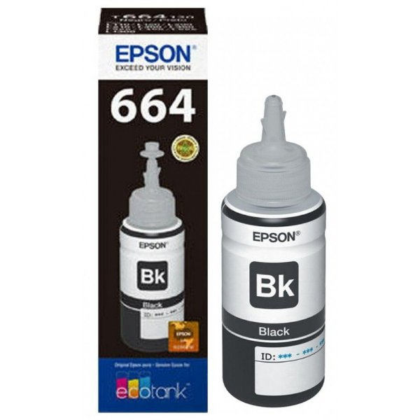 Refil Tinta Epson T664120AL Preto L110 L200 L210 L355 Original