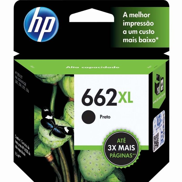 Cartucho Hp 662 XL Preto 2515 3515 662XL CZ105AB Original