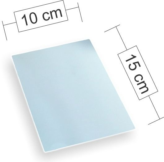 Placa de Aluminio 15cm x 20cm para Sublimação