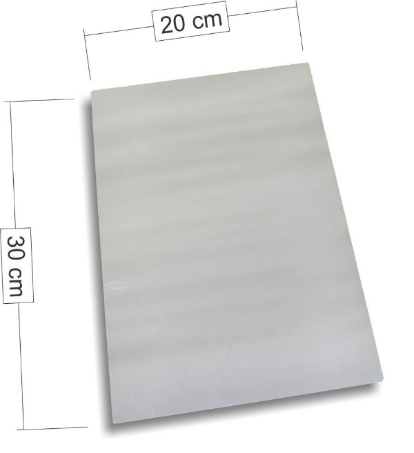 Placa de Aluminio 20cm x 30cm para Sublimação