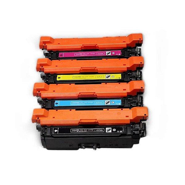 Kit 4 Toner HP 504A CE250 CE251 CE252 CE253 Compatível CM3530 CP3525
