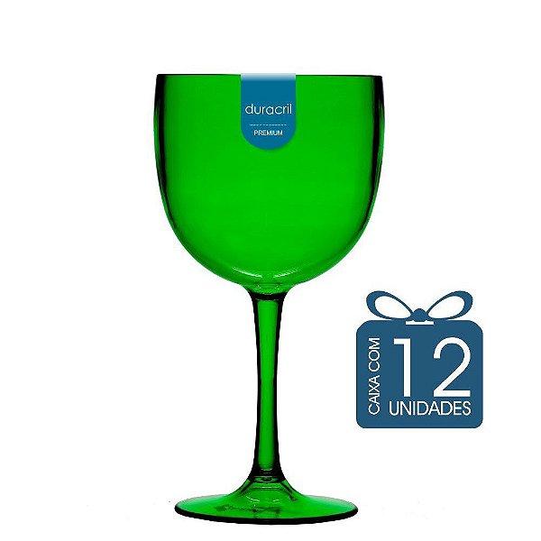 12 Taças de Gin 580 Ml Verde translúcida