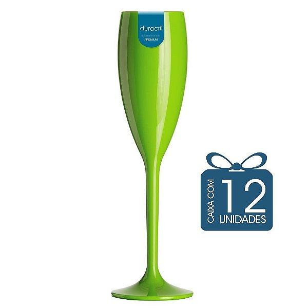 12 Taças Champagne 160 ml Verde