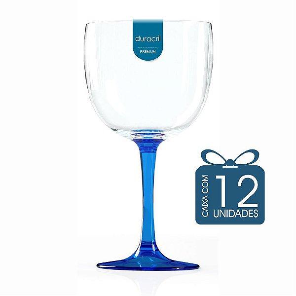 12 Taças de Gin Bicolor 580 Ml Azul Escuro Translúcido