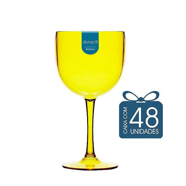 48 Taças de Gin 450 Ml Amarelo Translúcido