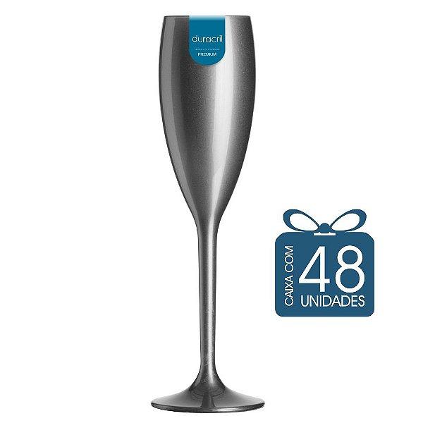 48 Taças Champagne 160 ml Prata