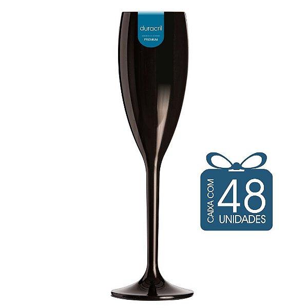48 Taças Champagne 160 ml Preta