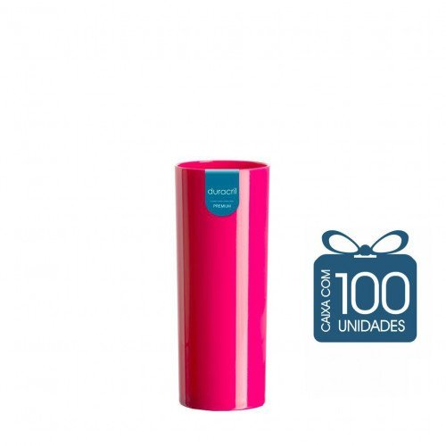 100 Copos Long Drink 330 ml Pink