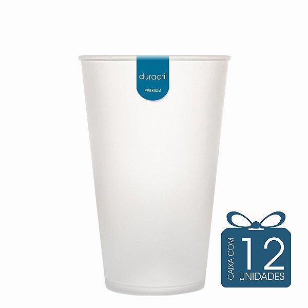 12 Copos Ecológico Biodegradável 550 ml Branco