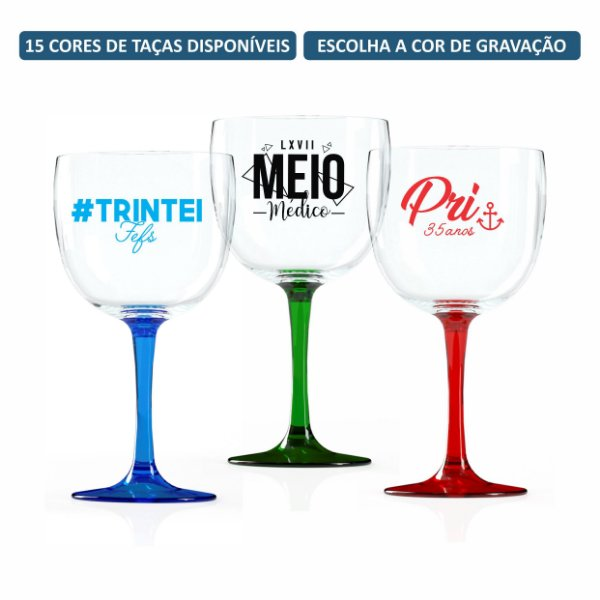 Kit Taças de Gin Bicolor 580 ml Personalizadas
