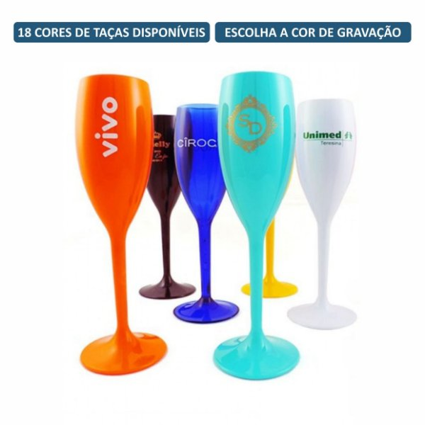 Kit Taças de Champagne 160 ml Personalizadas