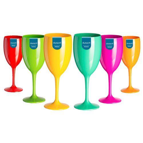 12 Taças Victória 400 ml Coloridas