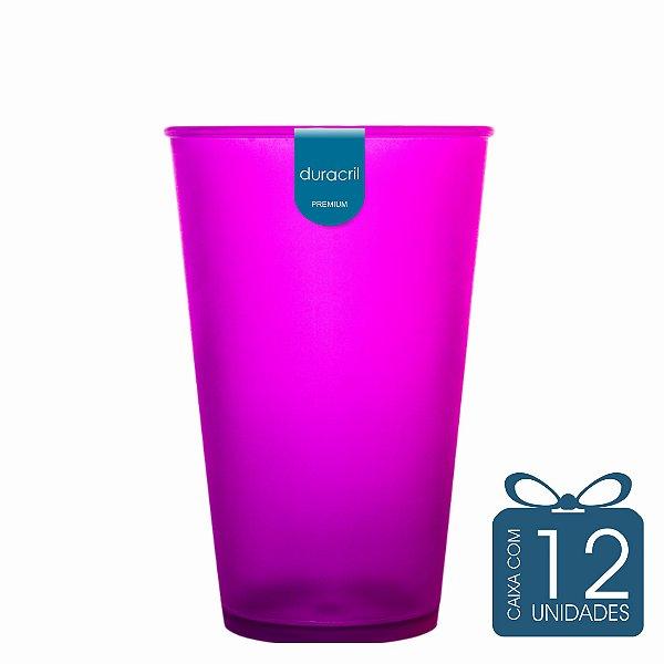 12 Copos Ecológico Biodegradável 550 ml Roxo