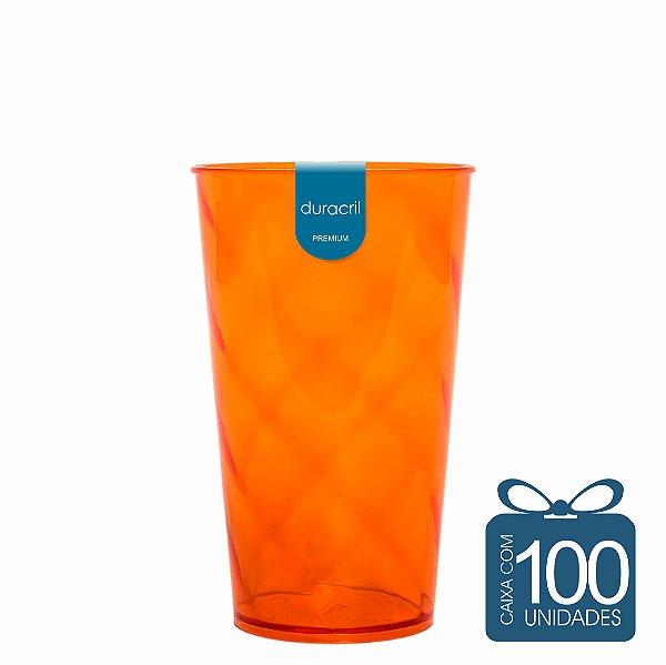 100 Copos Twister 500 ml Laranja Neon
