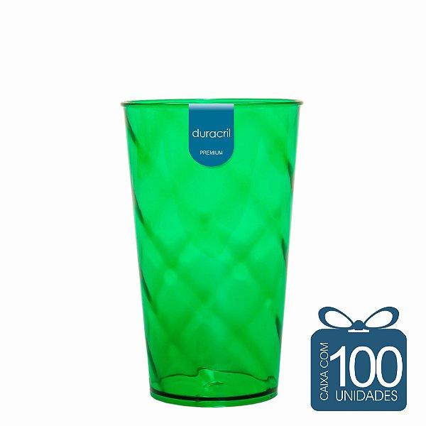 100 Copos Twister 500 ml Verde Escuro