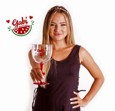 Taça de Gin Bicolor GABI MARTINS Melancia
