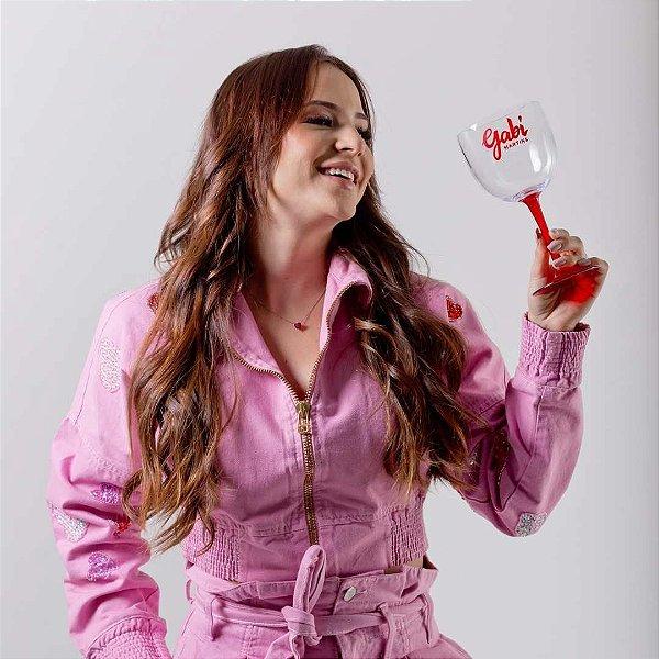 Taça de Gin Bicolor GABI MARTINS Vermelha