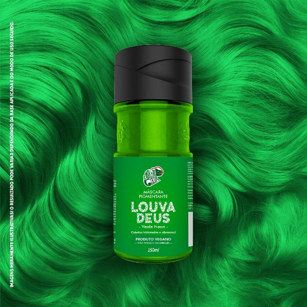 Máscara Pigmentante Verde Neon Kamaleão Color 150ml - Louva Deus