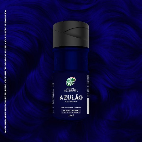 Máscara Pigmentante Azul Escuro Kamaleão Color 150ml - Azulão