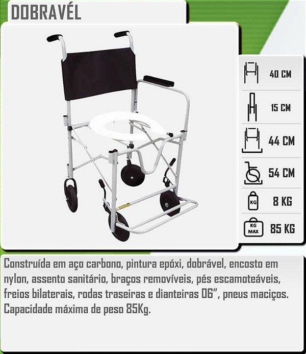 Cadeira Higiênica Alumínio Dobrável CDS