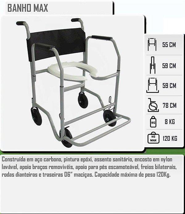Cadeira Higiênica Banho Max