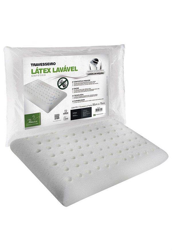 Travesseiro Látex Plus Lavável Fibrasca