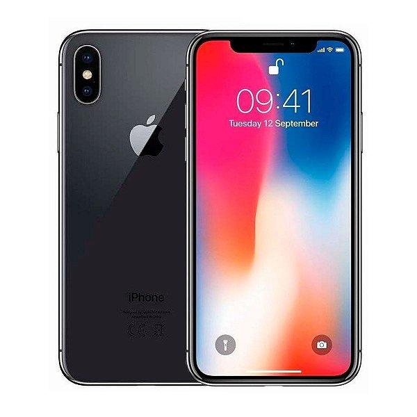 Smartphone Apple iPhone X 256GB 3GB Preto Seminovo