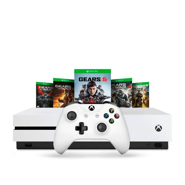 Console Xbox One S 1TB Branco + The Gears Collection